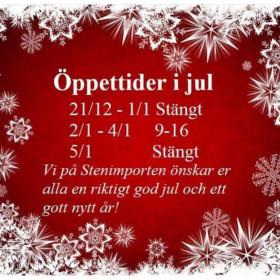 Öppettider i julhelgen