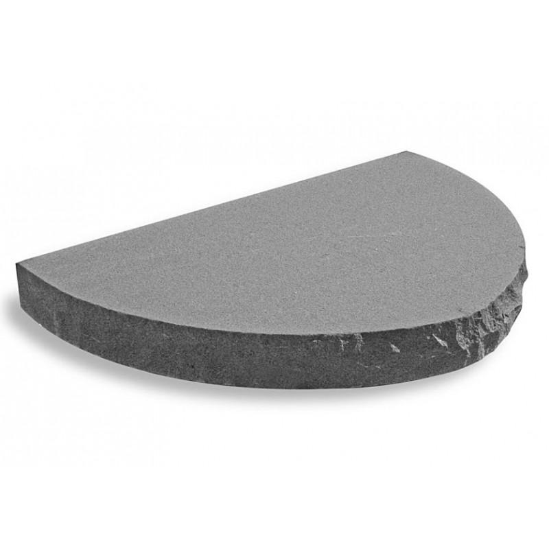 Entresteg Halvrund M U00f6rk Granit